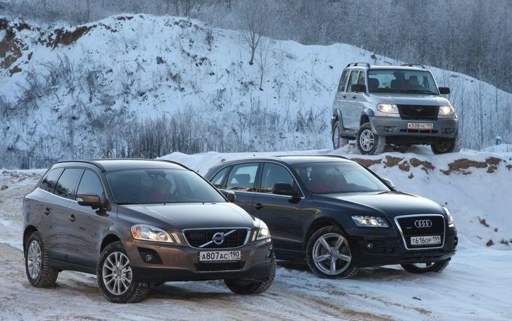 Сравниваем UAZ Patriot, Audi Q5, Volvo XC60